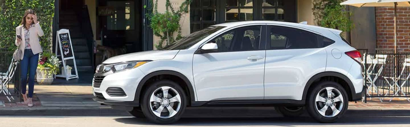 White 2019 Honda HR-V Parked