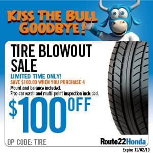 Tire Blowout Sale - $100 OFF