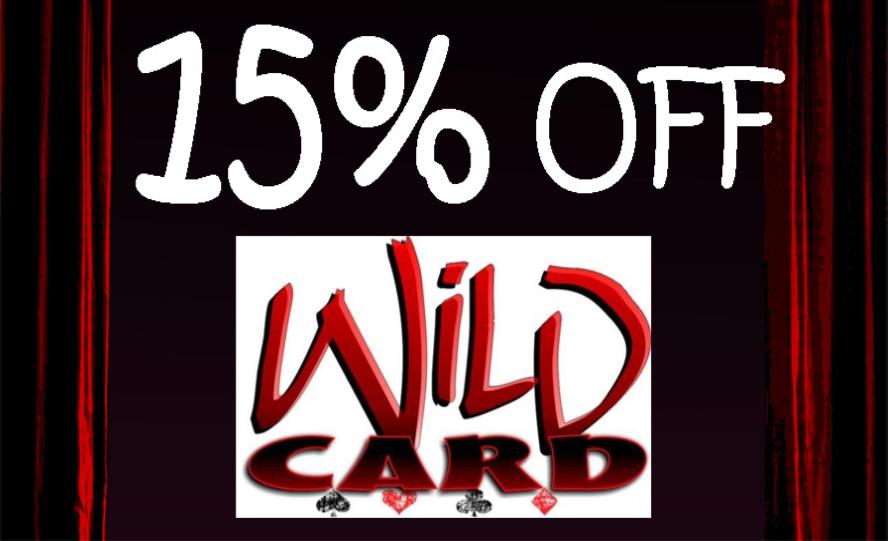 15% OFF Wild Card