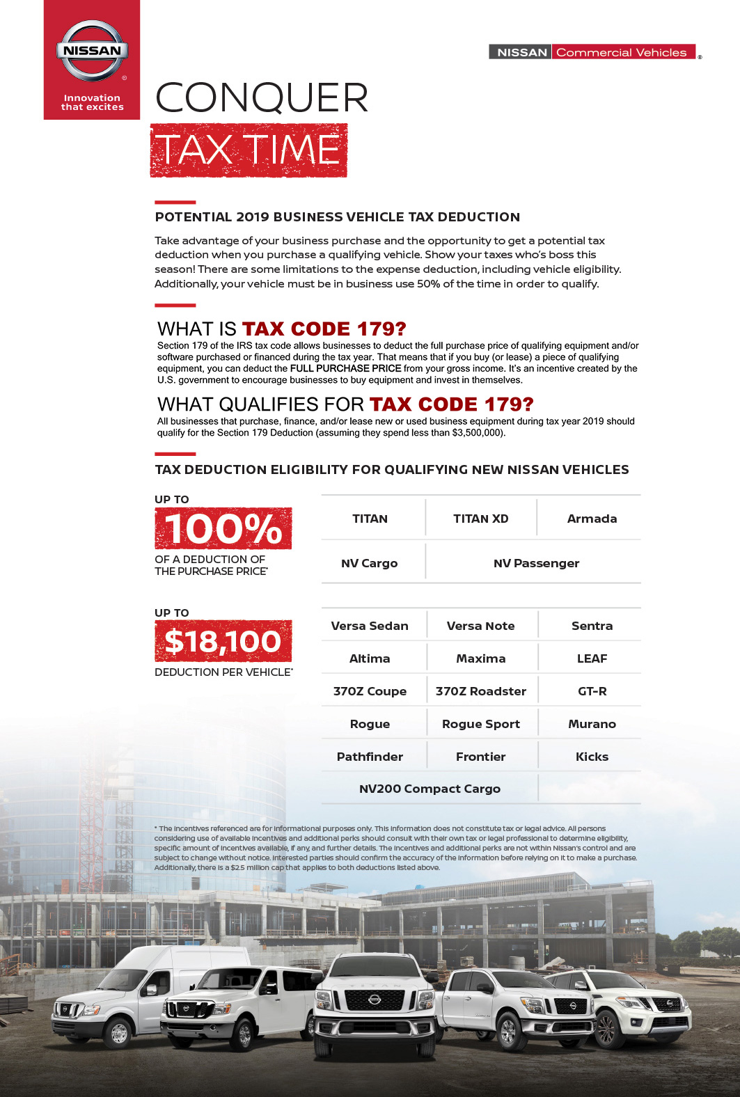 Nissan Commercial Vehicle Tax Savings | Fort Collins, CO