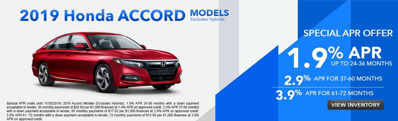 2019 Honda Accord Models