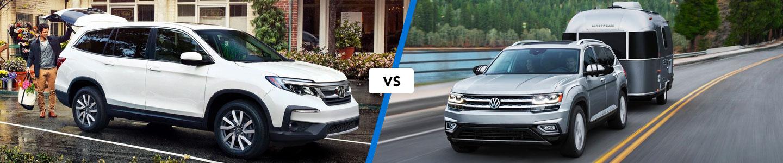 Comparing the 2020 Honda Pilot & 2020 Volkswagen Atlas SUVs