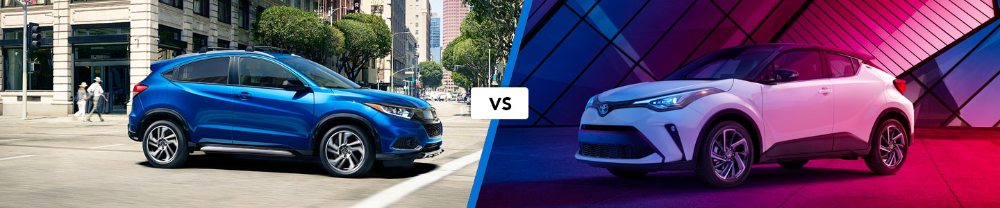 Comparing the 2019 Honda HR-V & Toyota C-HR Compact Crossovers