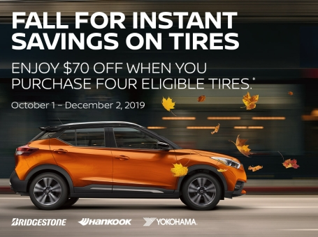 Save $70 With Purchase of 4 Eligible Tires*