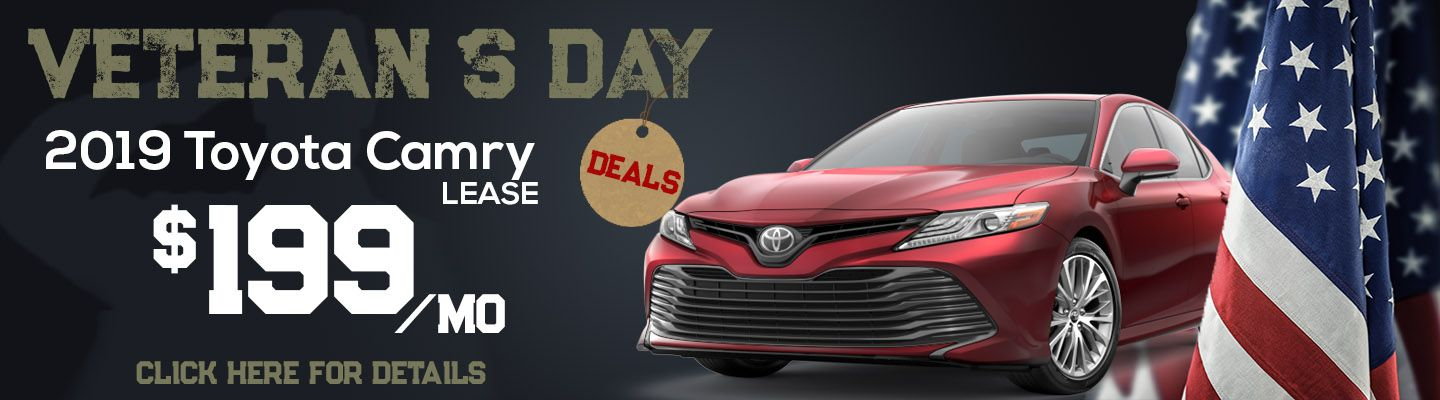 Veterans Day 2019 Camry Lease offer