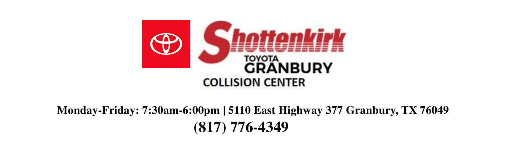 Come See Us at Shottenkirk Collision Center