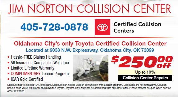 jim norton toyota collision center coupon