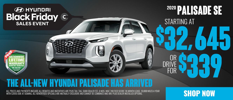 2020 Hyundai Palisade - Drive for $339/mo
