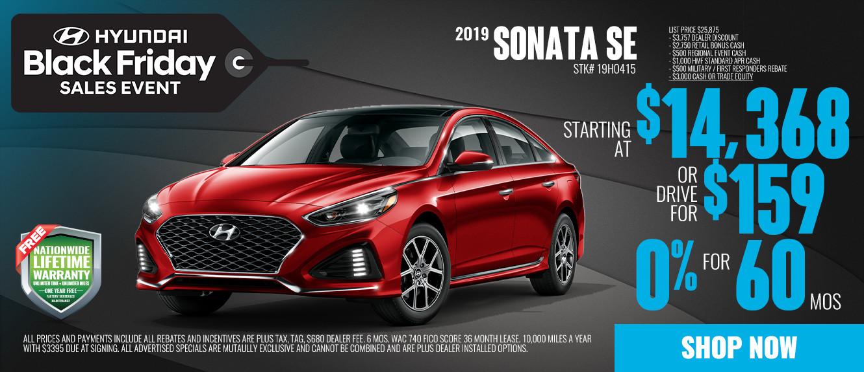 2019 Hyundai Sonata SE Starting at $14,368 or Drive for $159/mo | See Dealer For Details