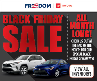 Black Friday Sale All Month Long at Freedom Toyota
