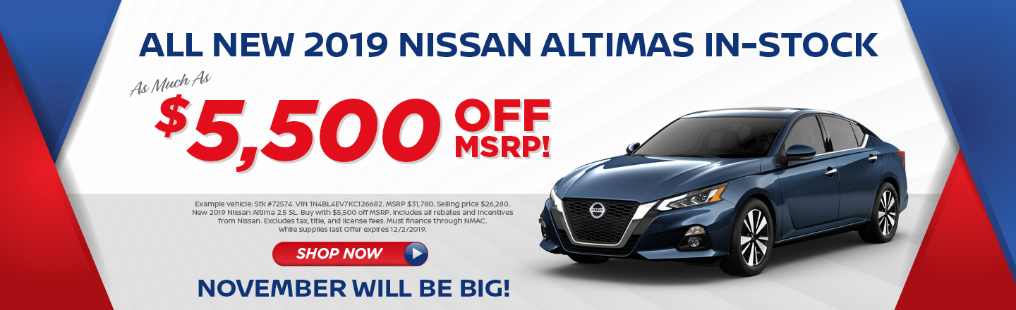 ANY 2019 NISSAN ALTIMA VEHICLES IN STOCK