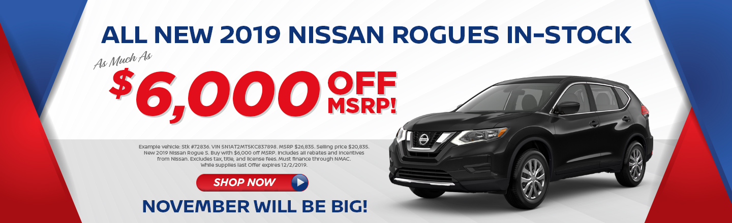 ANY 2019 NISSAN ROGUE VEHICLES IN STOCK