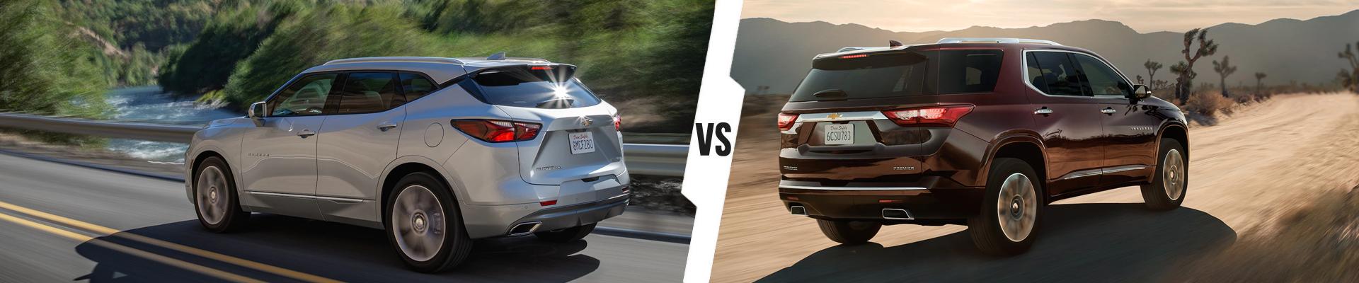 Chevrolet SUV Comparison: 2020 Chevrolet Blazer Versus 2020 Chevrolet Traverse