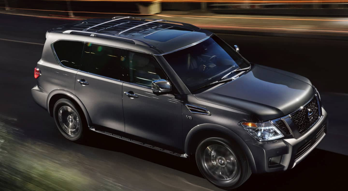 2020 Nissan Armada driving on the road