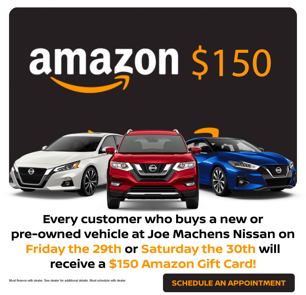 Purchase a New or a Used Car and Get an Amazon Gift Card