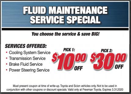Fluid Maintenance Service Special
