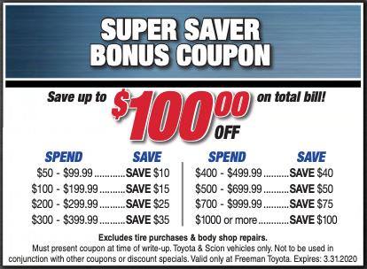 Super Saver Bonus Coupon