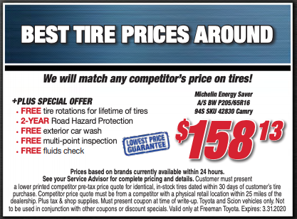 Best Tire Prices Around