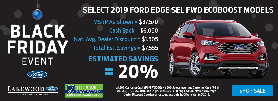 Black Friday Ford Edge Deals | Lakewood, WA