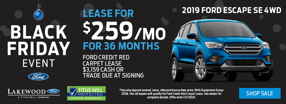 Black Friday Ford Escape Deals | Lakewood, WA