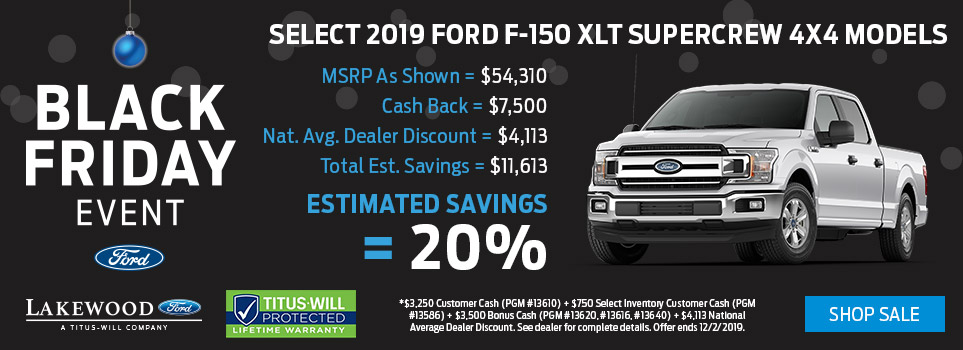 Black Friday Ford F-150 Deals | Lakewood, WA