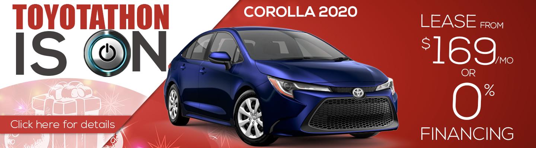 Toyotathon 2020 Toyota Corolla Lease $169 a month