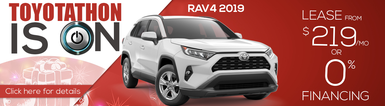 Toyotathon 2019 RAV4 Lease $219 a month