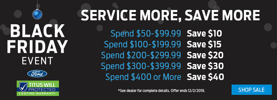 Black Friday Service Offer