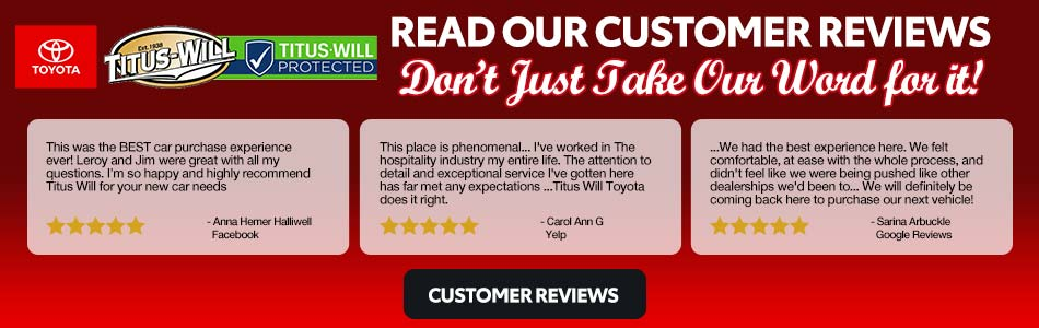 read titus will toyota reviews
