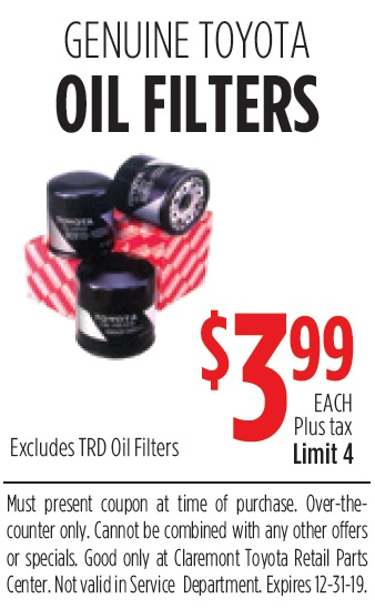 Genuine Toyota Oil Filters