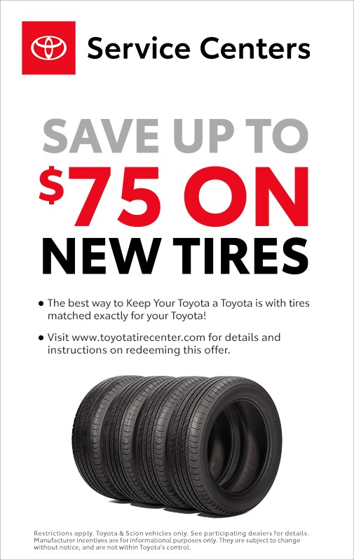 Save Up To $75 On Tires