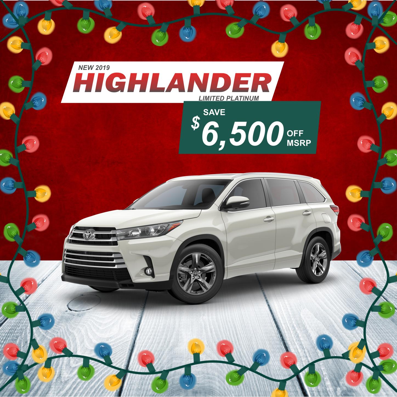 New 2019 Highlander Limited Platinum