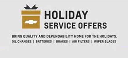 Holiday Service Offers