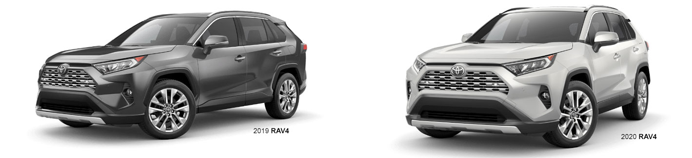 Compare the 2020 Toyota RAV4 to the 2019 Toyota RAV4 Crossover