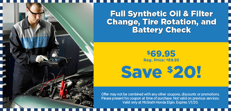 Full Synthetic Oil & Filter Change and More