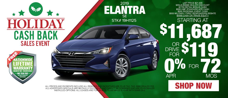 The 2019 Hyundai Elantra - Drive for $119/mo