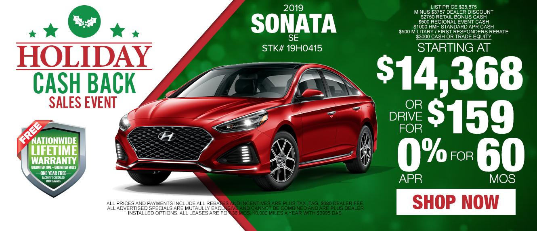 2019 Hyundai Sonata - Drive for as low as $159/mo