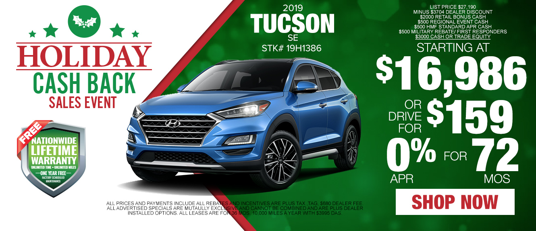 2019 Hyundai Tucson - Drive for as low as $159/mo