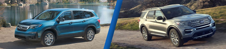 Mid-Size SUV Comparison: 2020 Honda Pilot Versus 2020 Ford Explorer