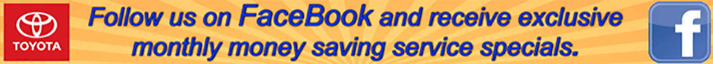 Follow us on Facebook and receive exclusive monthly money savings service specials