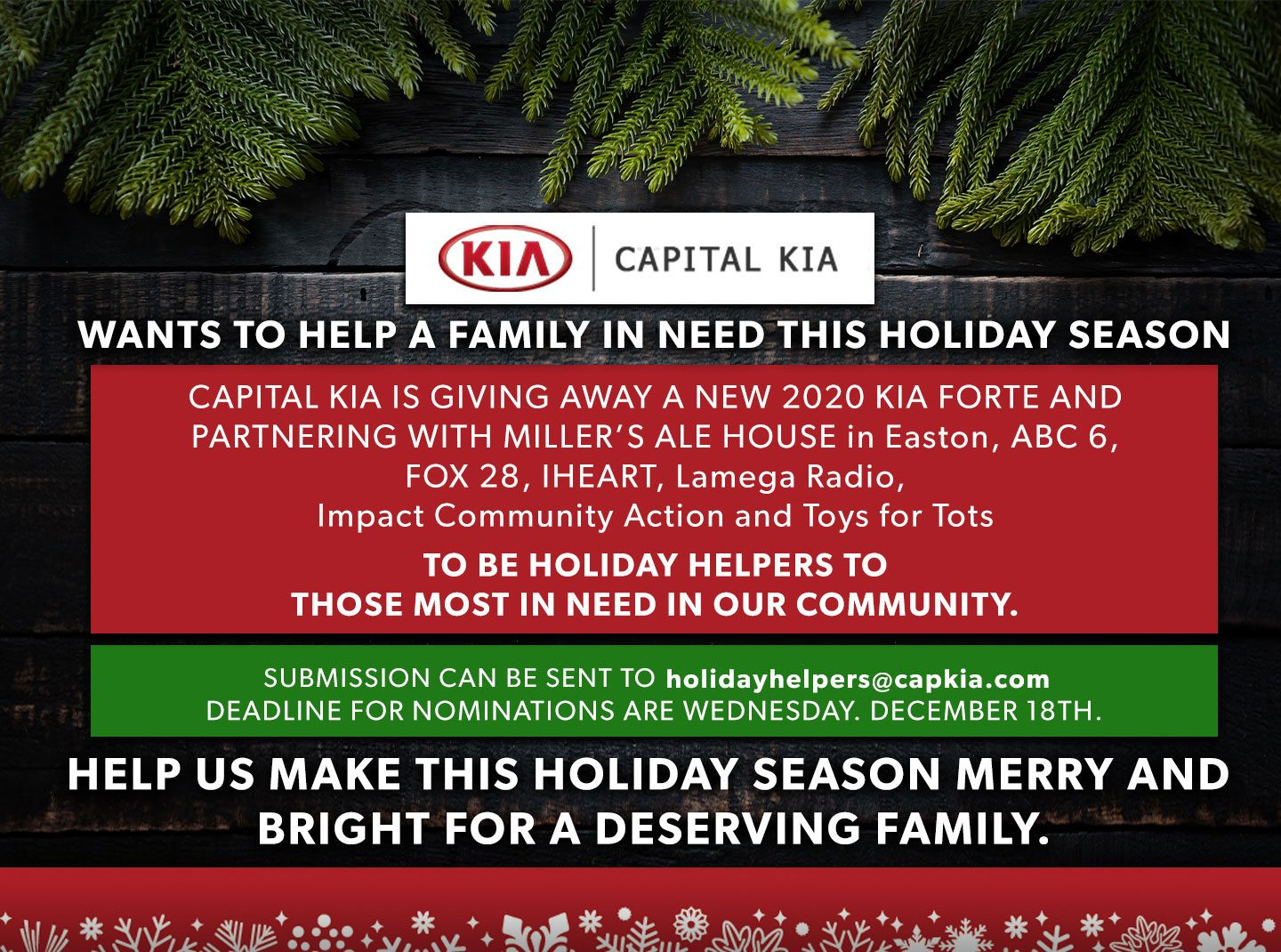 Capital Kia give away