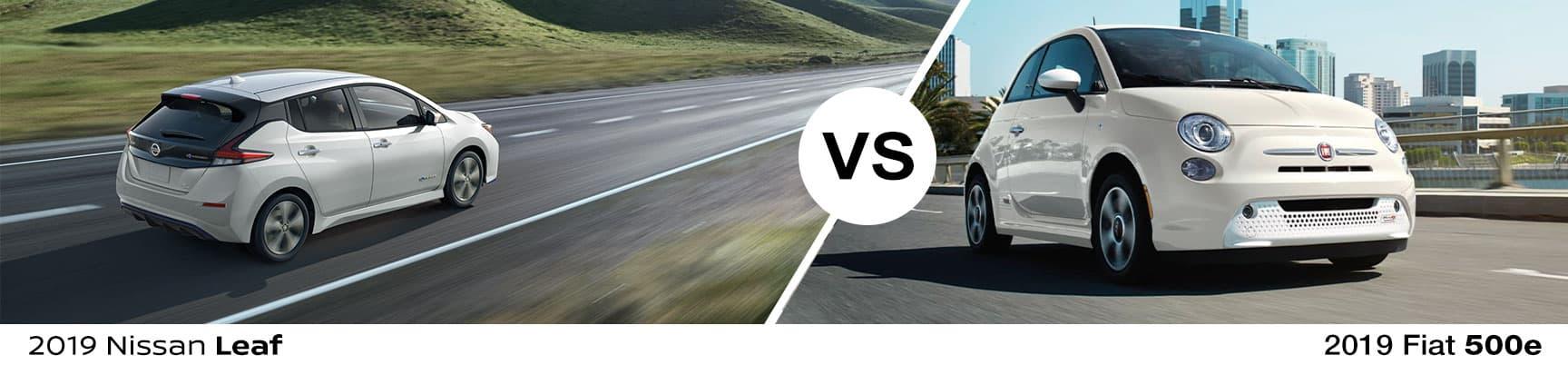 2019 Nissan Leaf vs 2019 Fiat 500e