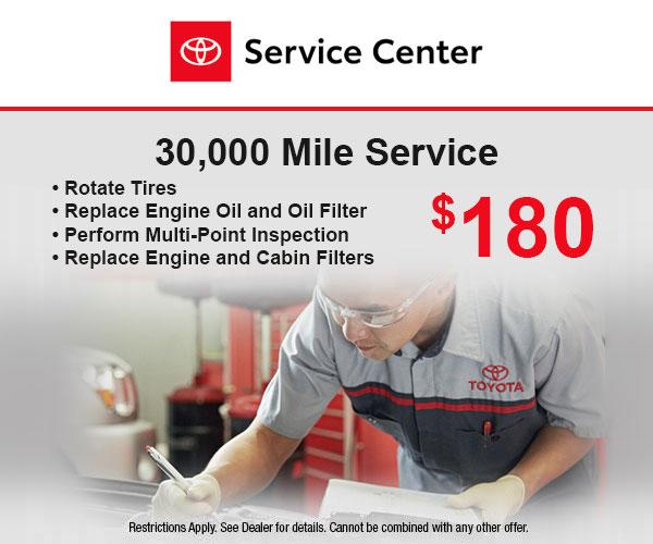 30,000 Mile Service
