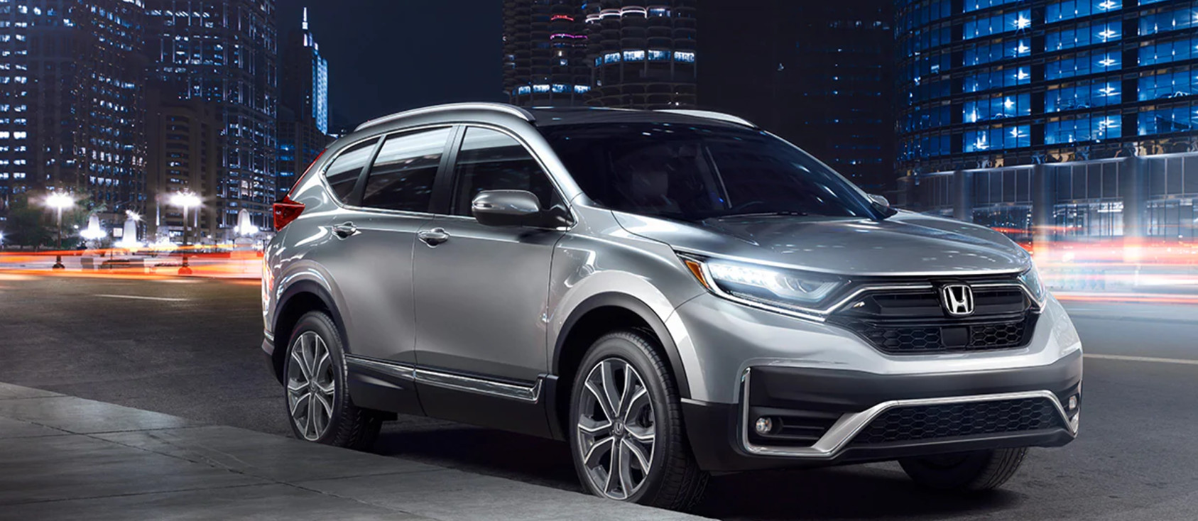 2020 Honda CR-V Hybrid driving through the streets of San Diego. Available now at Pacific Honda of San Diego