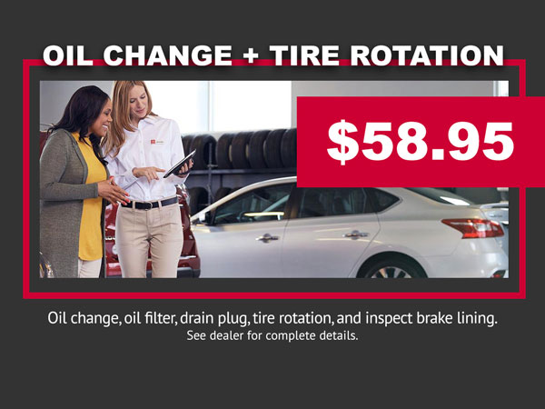 Oil Change and Tire Rotation Special Coupon