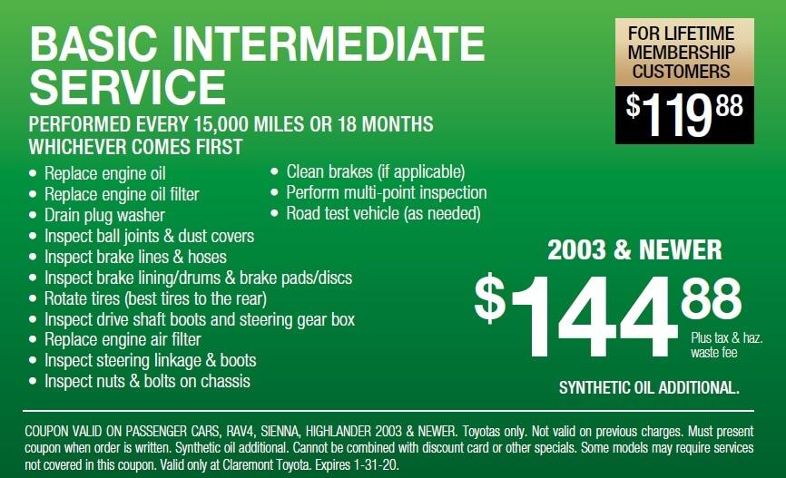Basic Intermediate Service