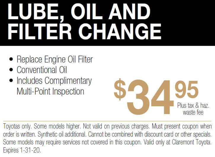 Lube, Oil, and Filter Change