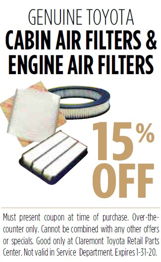 Genuine Toyota Cabin Air Filter
