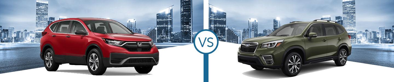 2020 Honda CR-V vs. 2020 Subaru Forester in Westerville, OH