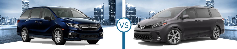 2020 Honda Odyssey vs. 2020 Toyota Sienna in Westerville, OH